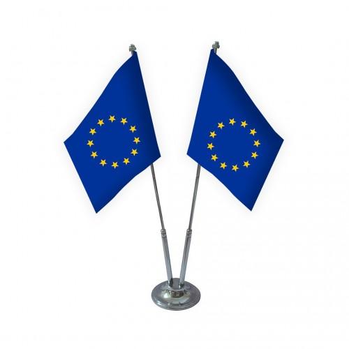İkili Avrupa Birliği Masa Bayrağı Takımı