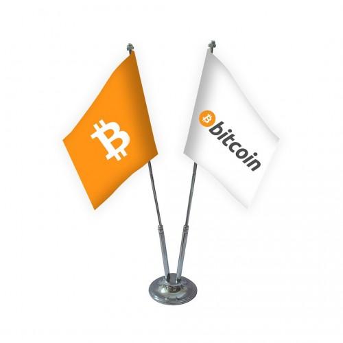 İkili Bitcoin Masa Bayrağı Takımı