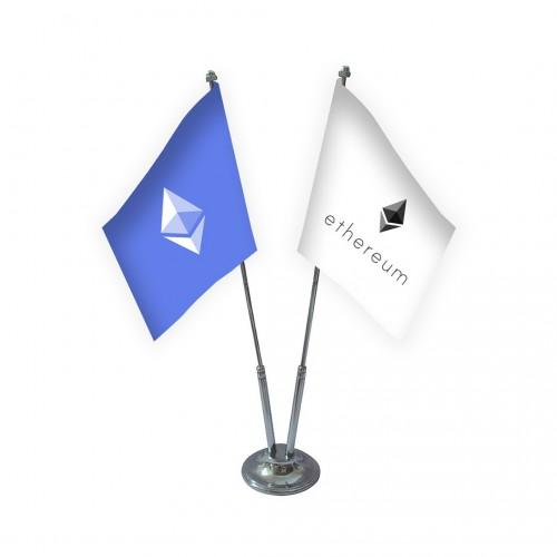 İkili Ethereum Masa Bayrağı Takımı