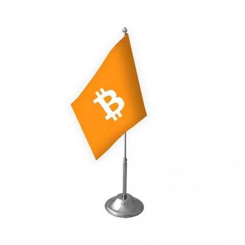 Tekli Bitcoin Masa Bayrağı Takımı
