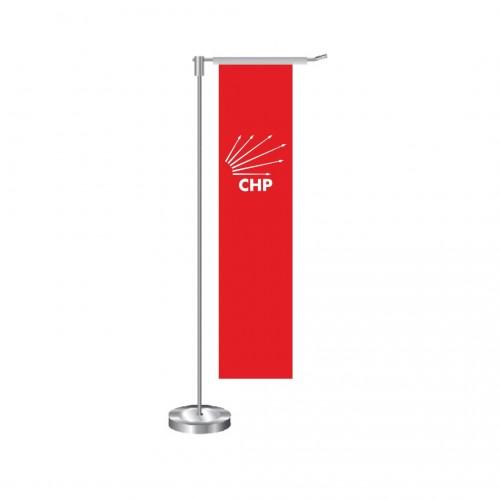 L Dikdörtgen Chp Masa Bayrağı Takımı