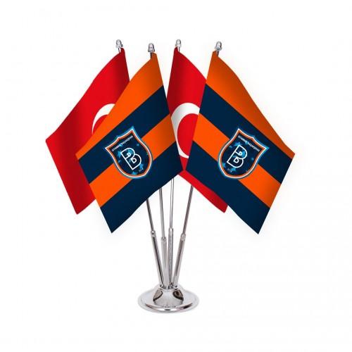 Dörtlü Başakşehirspor Masa Bayrağı Takımı