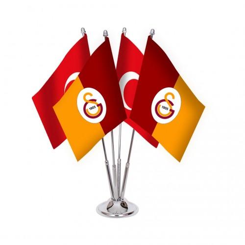 Dörtlü Galatasaray Masa Bayrağı Takımı