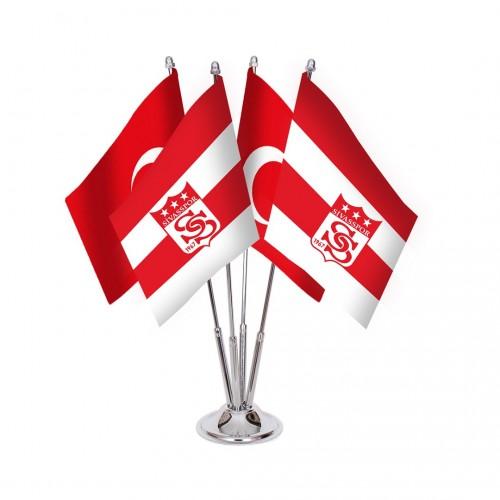 Dörtlü Sivasspor Masa Bayrağı Takımı