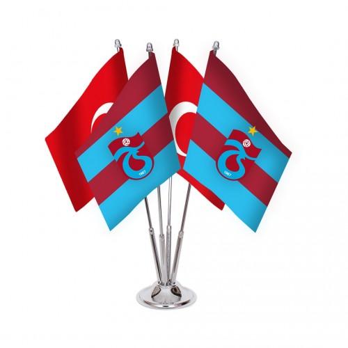 Dörtlü Trabzonspor Masa Bayrağı Takımı