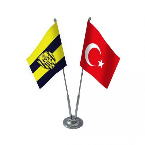 İkili Ankaragücü Masa Bayrağı Takımı