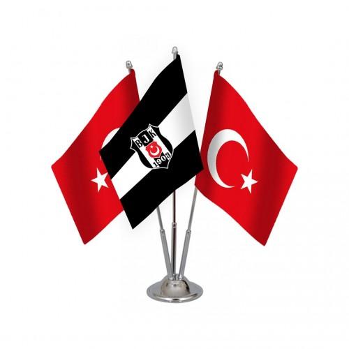 Üçlü Beşiktaş Masa Bayrağı Takımı