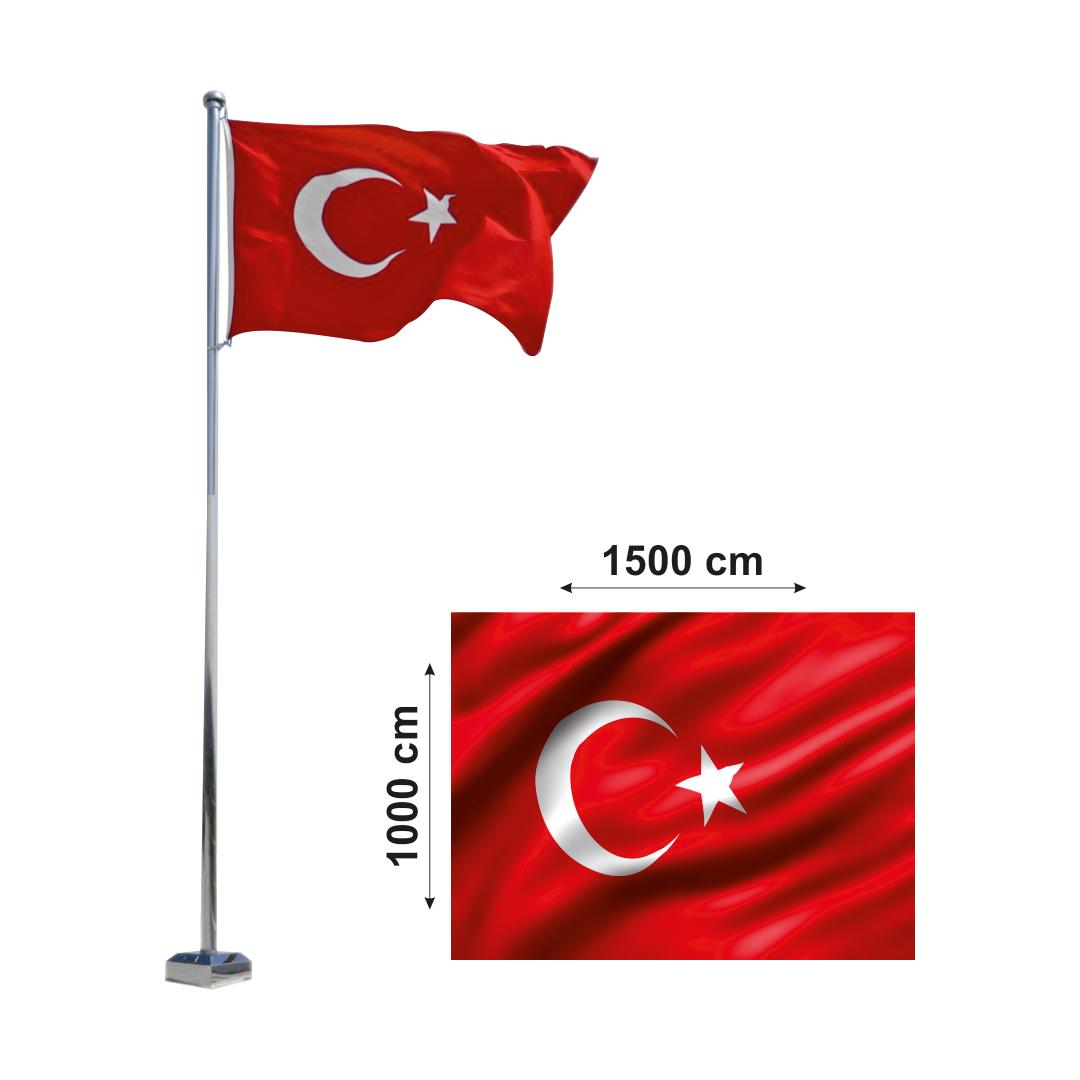 1000x1500 Türk Bayrağı