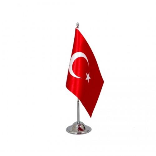 Türk Masa Bayrağı Tekli Direkli Takım